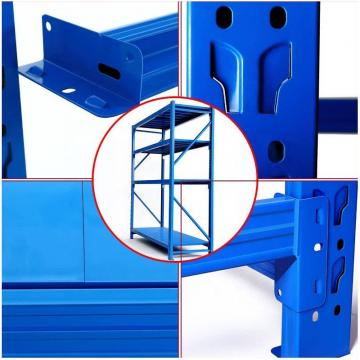 Custom-made products and 4 layers high cold rolled steel material warehouse racking for store
