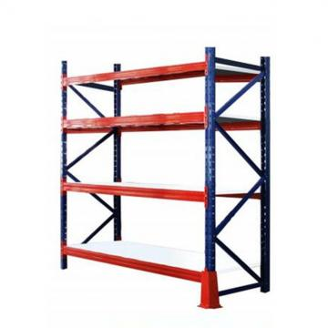 Metal 4 tiers Supermarket Rack Shelving Dividers Support Brackets Warehouse Display Wire Racks Steel Wall Mounted Storage Shelf