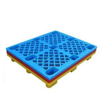 Steel reinforced 3 skids racking plastic pallet standard size hdpe made small pallets